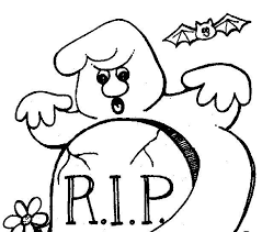 Scary Halloween Coloring Sheets 20 Very Attractive Pages Rip Of Rest In Peace For Kid