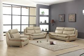 Taupe Living Room Decorating Ideas by Lush Taupe Leather 3 Piece Sofa Set With Eucalyptus Wood Accent