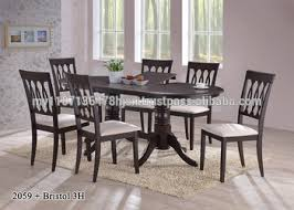 Malaysia Dining Table Set Butterfly Extension And Wooden Chair
