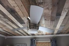 Remodelaholic Rustic Pallet Wood Ceiling Diy Kitchen Plank Herringbone Ideas