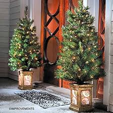 4 Ft Pre Lit Christmas Tree by Amazon Com 4 Ft Pre Lit Entryway Christmas Trees Set Of 2 By