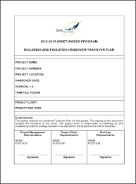Project Handover Template And Checklist Software Hand Over