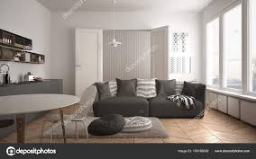 100 Scandinavian Modern Design Modern Living Room With Kitchen Dining Table Sofa And
