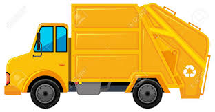 100 Rubbish Truck In Yellow Color Illustration Royalty Free Cliparts