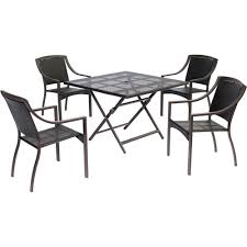 Home Depot Outdoor Dining Chair Cushions by Amazonia Milano 5 Piece Octagon Patio Dining Set Bt Octo Set The