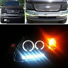 ford f150 expedition smoke led halo 1pc projector headlights