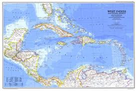 West Indies And Central America Map 1981