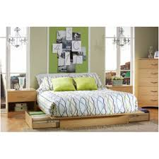 furniture queen size low profile platform bed frame with storage