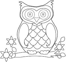 Animal Owl Coloring Sheets Printable For Preschool
