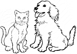 Perfect Dog And Cat Coloring Pages 53 For Seasonal Colouring With
