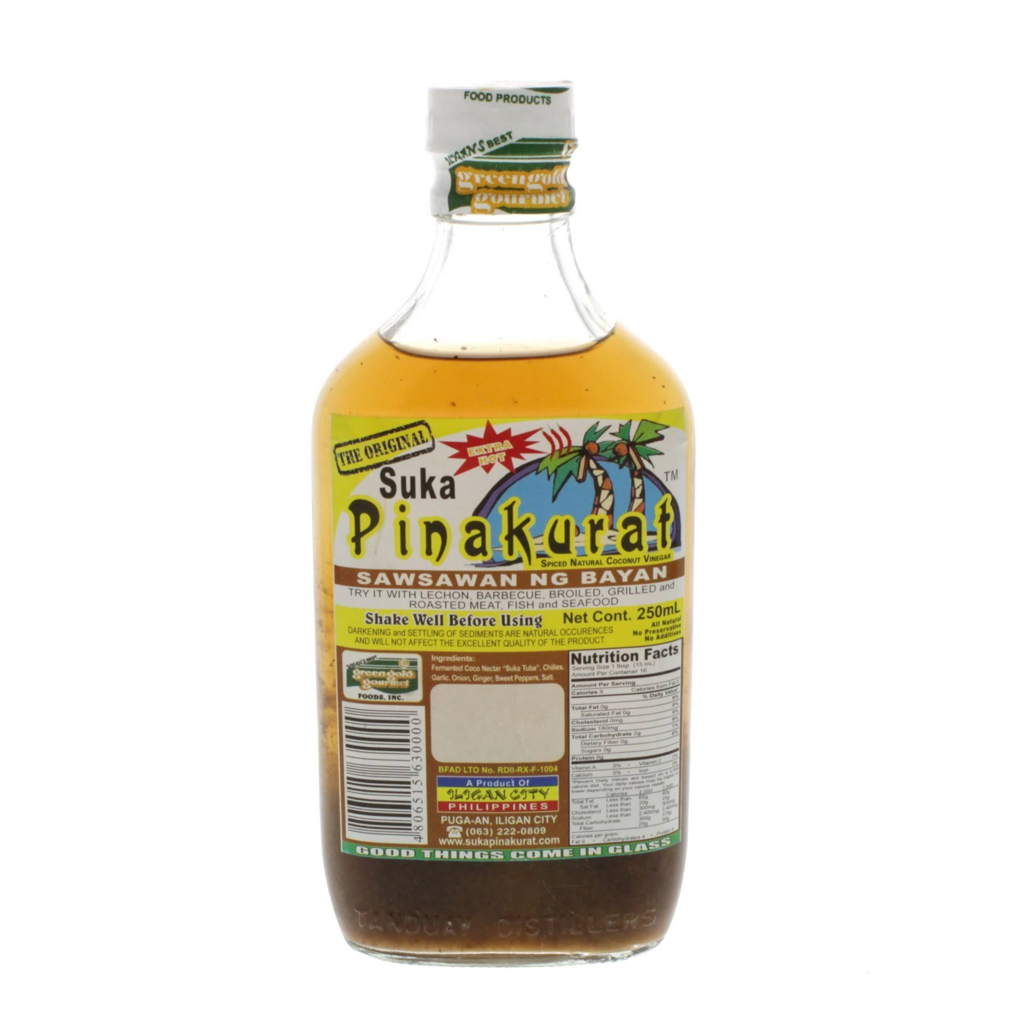 Greengold Gourmet Pinakurat Spiced Natural Coconut Vinegar - 250ml