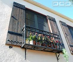 Rustic Spanish Shutters Designed And Crafted To Suite This Style Home Mediterranean Exterior