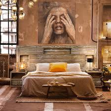 konzept modernes schlafzimmer komplett set loft massivholz kiefer tabakfarbe