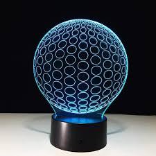 golf 3d led nachtlichter kreis aus acryl tischle
