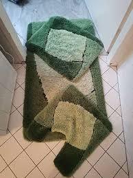 badezimmerteppiche badematten badtextilien farbe grün