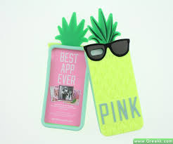 Cute Colorful Pineapple PINK Silicone 3D case cover for iPhone 5