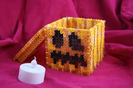 Minecraft Pumpkin Stencils by Mincraft Inspired Perler Projects Ashley Godbold U0027s Blog