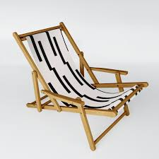 Simple Geometric Pattern - Lightning Geo Sling Chair By Thecolourstudy