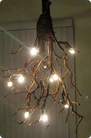 Rustic Branch Chandelier Great Idea To Hang From A Pergola Or Other Outdoor Structure