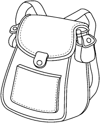 Bag clipart school outline Pencil and in color bag clipart