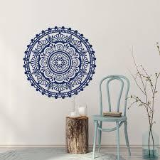 Mandala Wall Decal Bohemian Art Indian Pattern Decor Vinyl Stickers Yoga Ornament Design