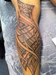 Leg Tattoo Tribal Band Tattoos
