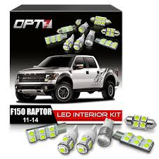 opt7 10pc interior led replacement light bulbs package