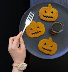 Easy Healthy Pumpkin Pancake Recipe by Spiced Pumpkin Pancakes With Grilled Banana And Candied Pecans