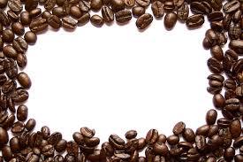 Coffee Bean Border Stock Photo