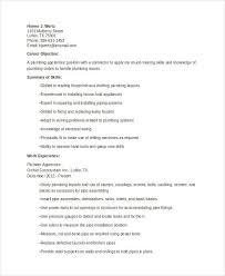 9 Sample Plumber Resume Templates