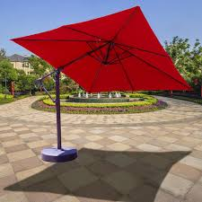 Tilt Patio Umbrella With Lights by Galtech 10 Ft Aluminum Square Cantilever Patio Umbrella With Easy