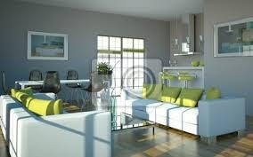 fototapete wohndesign wohnzimmer weiß grün