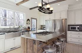 View In Gallery Stainless Steel Surfaces A Rustic Style Kitchen