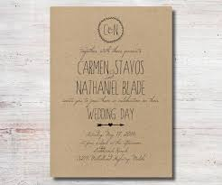 Wedding Invitation Kraft Paper Cards Invitations Simple