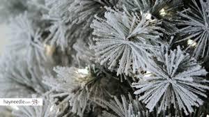 Hayneedle Flocked Christmas Trees by Belham Living 7 5 Ft Pre Lit Flocked Pine Needle Full Christmas