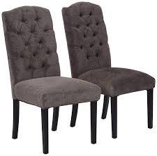 Amazon.com - Best Selling Crown Top Fabric Dining Chair, Dark Grey ... Prince Of Whales Fabric Black And White Ding Chairs Set 8 Chair Grey Room Metal And Leather Wood Upholstered 47 Off Ikea Nils Dwellhome Arnault Reviews Temple Webster Traditional Cover Mixed Rustic Varnished Unique Dorset Oak Table With Of Luxury Pack 4 Seat Green Orange Red Height 2 Corliving Fniture Us Clayton Belianise Magnificent Padded Big