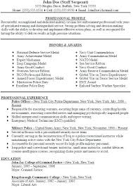 Law Enforcement Resume Templates Military Police Officer Sample Template Format