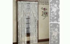 Lace Priscilla Curtains With Attached Valance by Lace Curtains Youtube