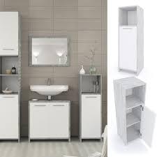 vicco badschrank kiko weiß grau beton midischrank badezimmerschrank badmöbel beistellschrank regal badregal