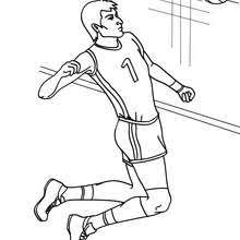 Volleyball Player Setting The Ball Quick Hit Action Coloring Page
