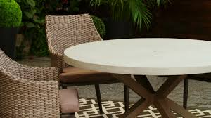 7 Piece Patio Dining Set Canada by Canvas Seabrooke Round Concrete Patio Dining Table Canadian Tire