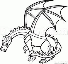 Coloring Pages Print Minecraft Dragon Inside The Most Amazing As Well Attractive