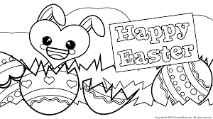 Download Coloring Pages Happy Easter Egg Eggs With