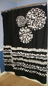 Black And White Flower Shower Curtain by 42 Best Black And White Striped Shower Curtain Images On Pinterest