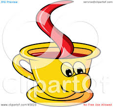 Royalty Free Rf Clipart Illustration Of A Happy Yellow Coffee Cup Rh Clipartof Com Mug Transparent Background