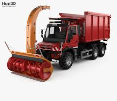100 Rc Truck Snow Plow MercedesBenz Unimog U530 Paul 2016 3D Model