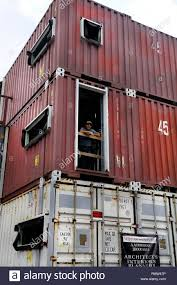 100 Shipping Container Studio Davie Florida USA 18th Sep 2018 Architect Asghar Fathi Stands
