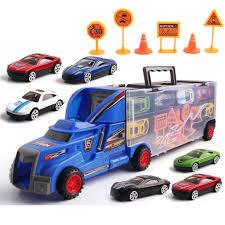 100 Truck Carrier Detachable Toy Car Transporter W Mini Alloy Car