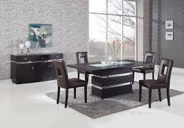 Global Furniture DG072 5 Piece Dining Room Set In Brown