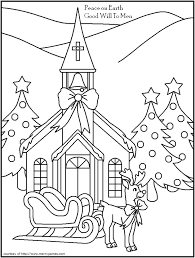 Christmas Cards Coloring Pages Eliolera